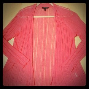 Eileen fisher linen/silk swing cardigan in peach